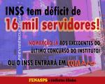 Fenasps cobra do governo nomeação dos excedentes e concurso para repor 16 mil vagas no INSS