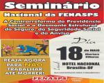 Seminário da Fenasps vai discutir contrarreforma da Previdência e desmonte estrutural no próximo dia 18