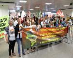 Fenasps na luta! Entidades realizam ato no aeroporto de Brasília contra reforma da Previdência