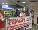 FENASPS E ENTIDADES do FONASEF REALIZAM ATO AEROPORTO DE BRASÍLIA