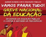 Todo apoio à Greve Geral da Educação em 15 de maio!